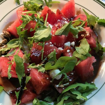 Watermelon Salad with Black Garlic Vinaigrette